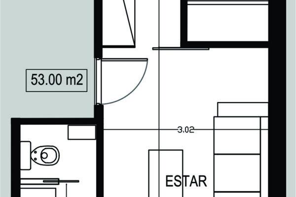 Semipiso 2 amb. 53 m² (B - frente)
